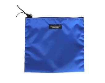 Nylon Pouch 8x8 inch cobalt blue nylon zipper  use for travel, snacks, cosmetics, a tool bag, photo-video gear, and more!