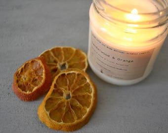 Sandalwood & Orange %100 natural Soy Candles