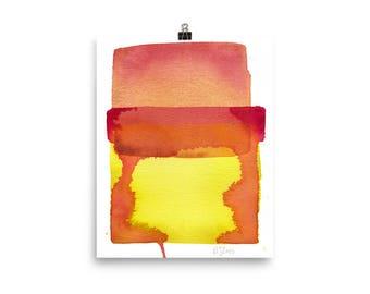 Color Field 1 / Art Print of Minimalist Watercolor