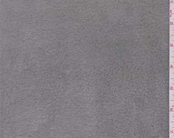 Mouse Grey Polyester Fleece, Fabric By The Yard