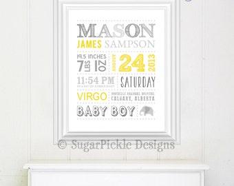 Nursery Print, Nursery Art, Nursery decor, Nursery Wall art, Nursery prints, New baby gift, Nursery art prints, Baby stats print