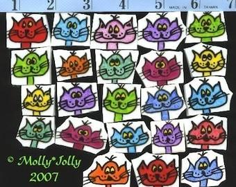 Mosaic Tiles COLORFUL CATS Mosaic Tile