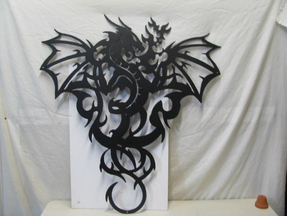 Wonderful Dragon 002 XLarge Metal Wall Yard Art Silhouette