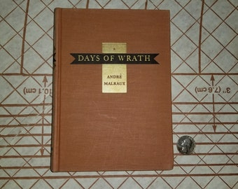 Vintage 1936 Book (Days of Wrath) by Andre Malraux