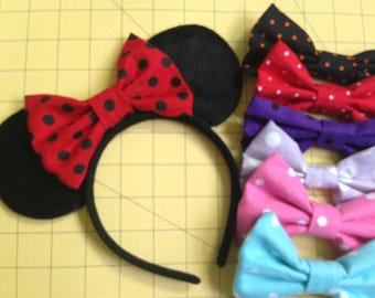 Polka Dot Bow Minnie Mouse Inspired Ears
