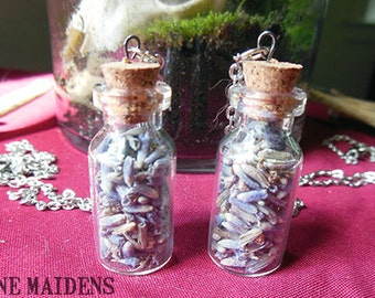 Vial of Dried Lavender Necklace