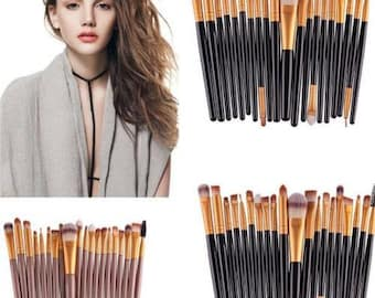20pcs Makeup Brushes Kit Set Powder Foundation Eyeshadow Eyeliner Lip Brush Tool