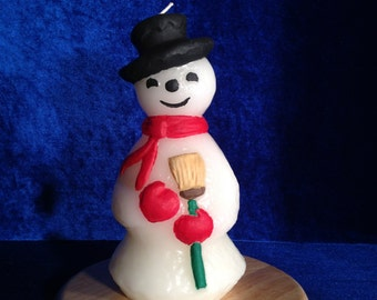 Scented Snowman Candle