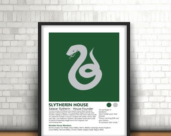 Slytherin Harry Potter Inspired Art Print Design And House History