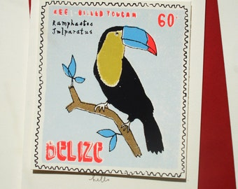 toucan stamp card
