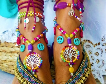 Barefoot N 245 great colors for jewelry feet very very hippie