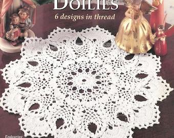 Crochet Heirloom Pineapple Doilies, digital .PDF, Patricia Kristoffersen, six patterns, home decor; Victorian Rug Decor, Shabby Chic
