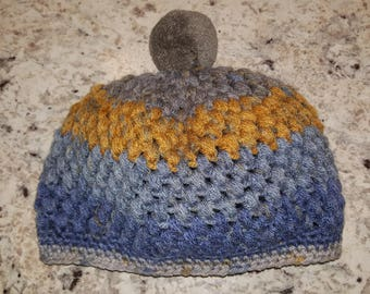 Toddler Winter Beanie with Pom Pom