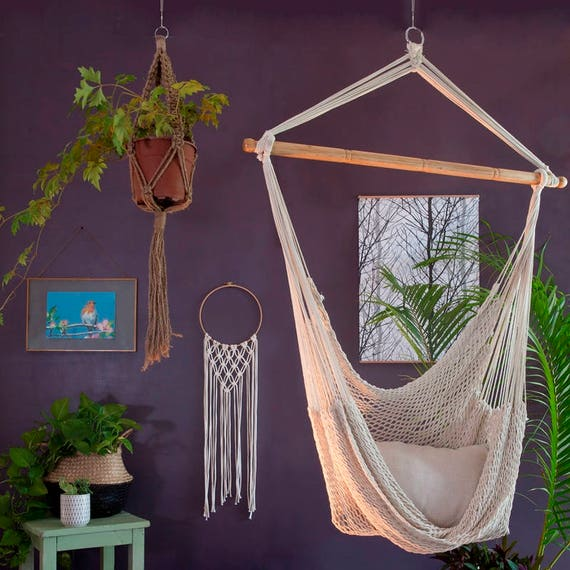 plant macrame chair hanging org handmade genderpac crochet hangers and tutorial craft swing hammock afterpay