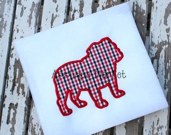 Machine Embroidery Design Applique Bulldog 2 INSTANT DOWNLOAD