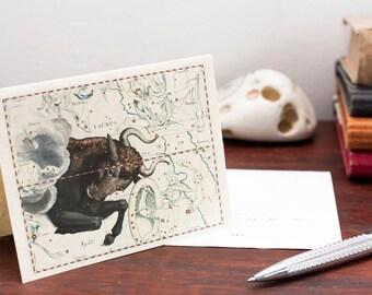 Zodiac Sign Taurus Constellation Greeting Card