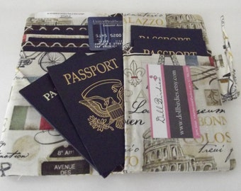 Dollbirdies Family Size Boarding Pass Passport Wallet