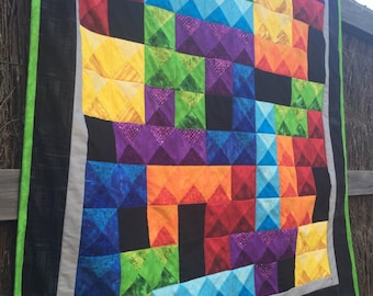 Tetris video game baby or lap quilt