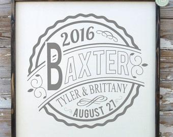 Wedding Gift - Bride Gift - Newlywed Gift - Anniversary Gift
