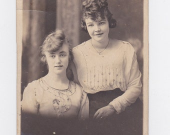 1920-30s  picture post card of two young girls