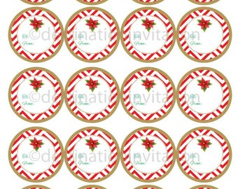 Instant Download Printable Gift Tags, Stickers