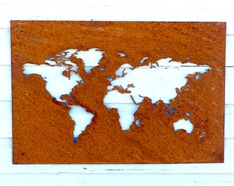 Metal Wall Decor, Metal Wall Hangings, Metal Wall Art Decor, Wall Art, World Map