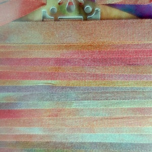 Sandstone Hand Dyed Silk Ribbon 7mm