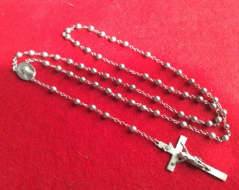 Vintage Swift & Fisher 1937 Sterling Rosary