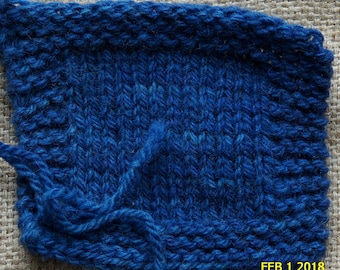 worsted weight yarn: SHADED DENIM 2 ply worsted weight kettle dyed wool yarn from our USA farm