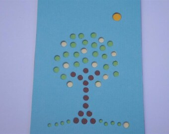 """Lemon Tree ACEO - """"Citrus Fruit Trees Collection"""" - One Premium Hand-hammered Topography ACEO DDOTS"""