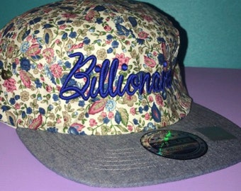 Floral Billionaire Hat