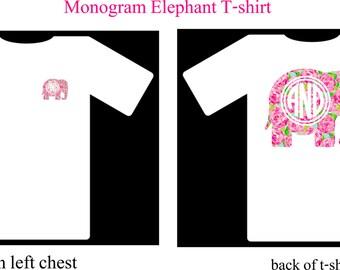 Monogram Shirt, Elephant Monogram Shirt