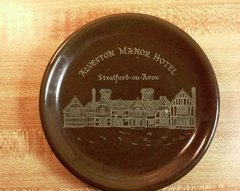 Alveston Manor Hotel Souvenir Ashtray/ Tip Tray, CMP, Stratford-on-Avon England