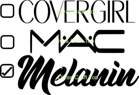 Covergirl Mac Melanin SVG from DivasCraftToo on Etsy Studio