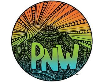 Pacific Northwest - PNW Art Print