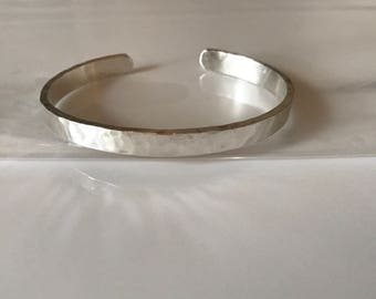 Hand Hammered Sterling Silve cuff Bracelet
