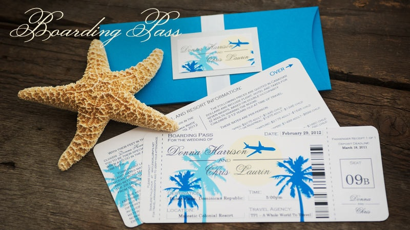 Sample Boarding Pass Destination Wedding Invitation - Wedding invitation templates: boarding pass wedding invitation template