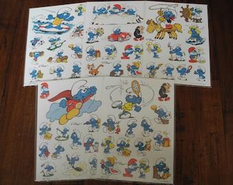 Vintage The Smurfs stickers