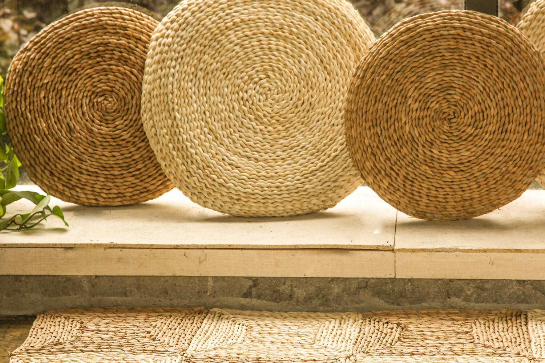 Rustic floor cushions/ Floor pouf/throw pillow/Pouf