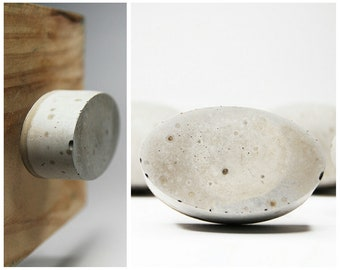 NEW! Cabinet Knob - Concrete Ellipse / Oval in Natural Grey or a variety of colours & styles
