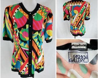 Vintage Colour Block Tee, Vintage Colour Block Shirt, Women's Colour Block Shirt, Color Block Shirt, Colour Block Blouse, Geometric Blouse