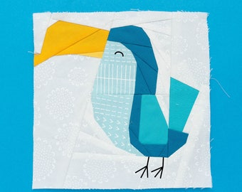 Toucan Paper piecing pattern - Quilt block pattern