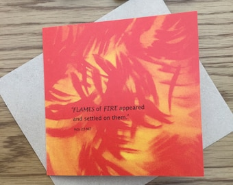 Greeting Card 'Flames of Fire'