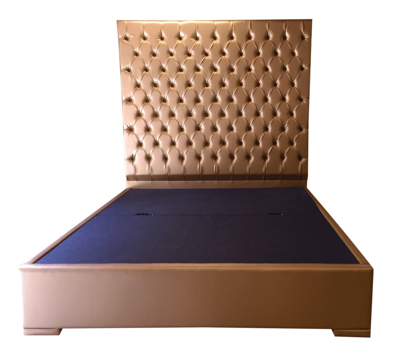Cabecero cama extra altos Tufted cabecera tapizada oro