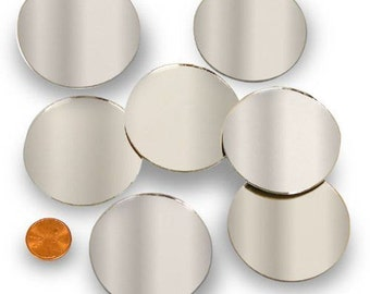 "Round 2"" Mirror Can Be Used in Many Craft Projects & Mosaics. - FREE SHIPPING!"