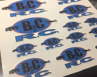 B&C RC Decal Pack (16 scaled decals - 1in to 2.5in wide)