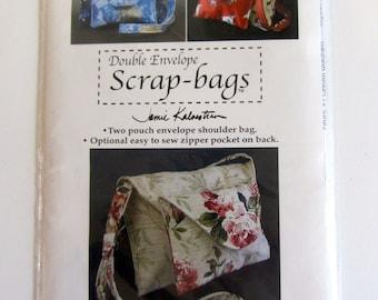 Sewing Pattern Scrap-bags Double Envelope shoulder purse - New Pattern