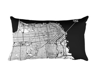 San Francisco Pillow, San Francisco Decor, San Francisco Throw Pillow, San Francisco Gift, Map, San Francisco Art, San Francisco CA