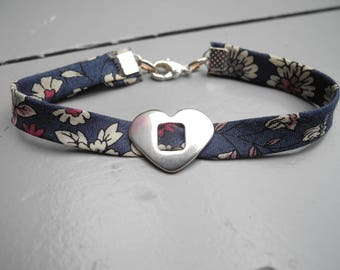 Bracelet Liberty with metal heart