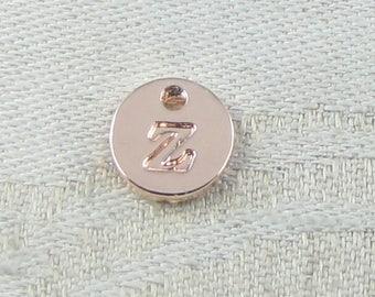 1 or 5, Initial Charm, Charm Bracelet, Lower Case Letter, Rose Gold Letter, Initial Pendant, Alphabet Charm, Lower Case Charm, ALF021z-RG
